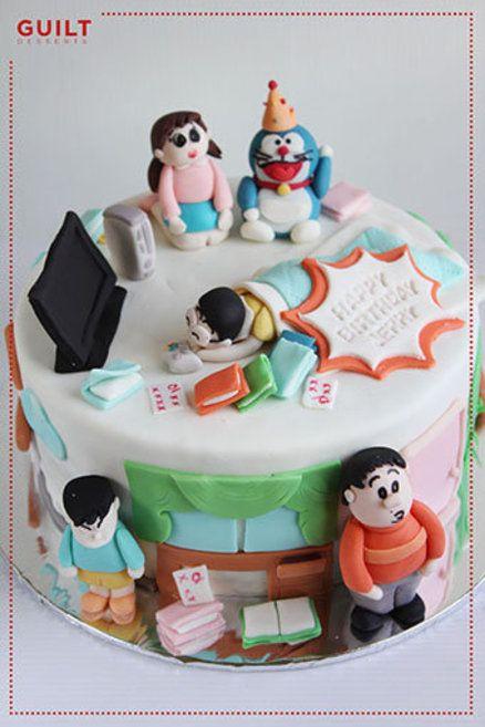 Doraemon Birthday Cake Cake By Guiltdesserts Cake Doraemon Cake