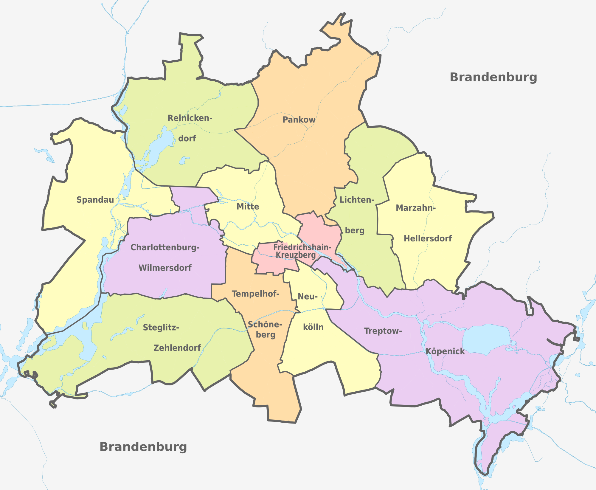 2000px Berlin Administrative Divisions Districts Boroughs Pop De Colored Svg Png Png 圖片 2000x1644 像素 已縮放 56 Administrative Division Berlin Map