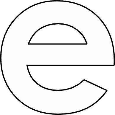 kleurplaat letter e met afbeeldingen kleurplaten