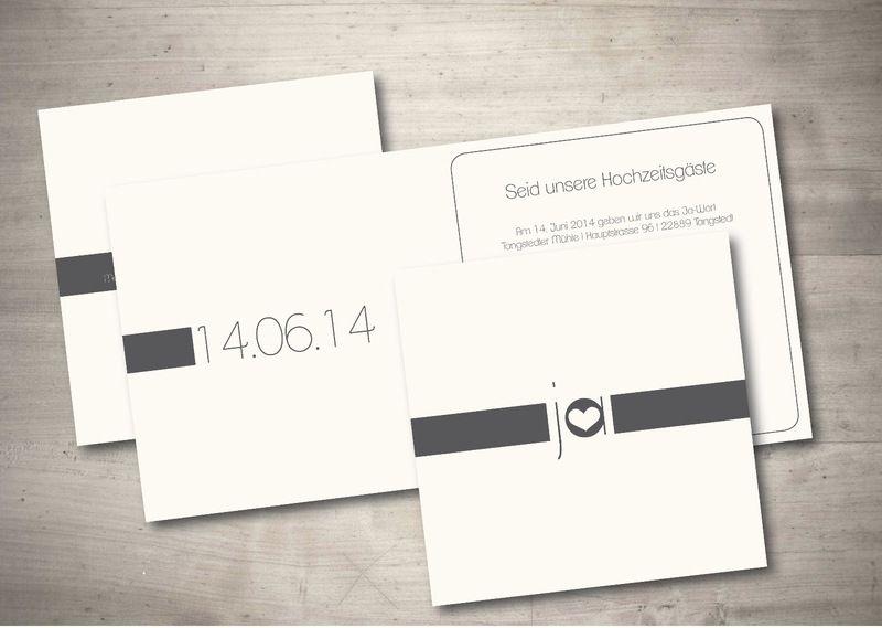 Einladungskarte Hochzeit   Schlichte Eleganz