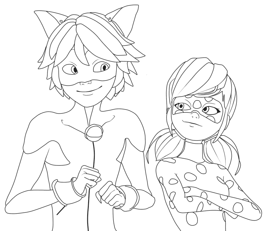 Print Miraculous Ladybug And Cat Noir Very Happy Coloring Pages E1549302190214 Mermaid Coloring Pages Ladybug Coloring Page Pokemon Coloring Pages