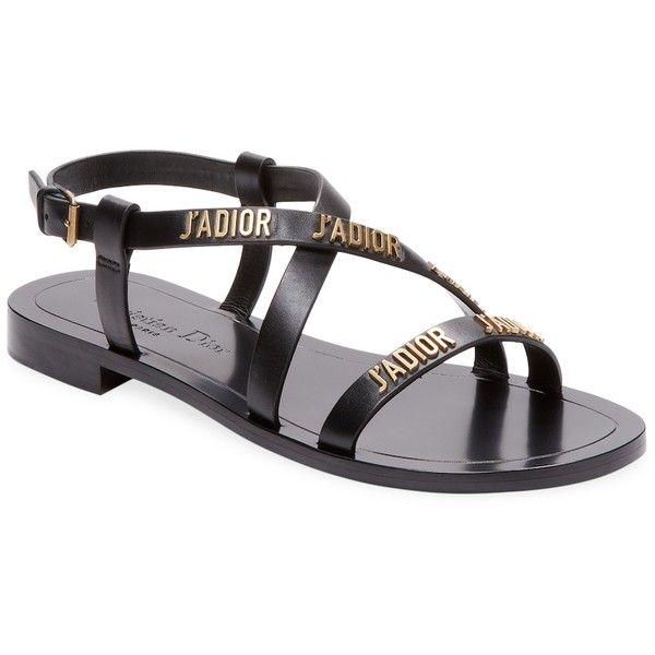 9750b83b8 Dior Women s Leather Flat Sandal - Black