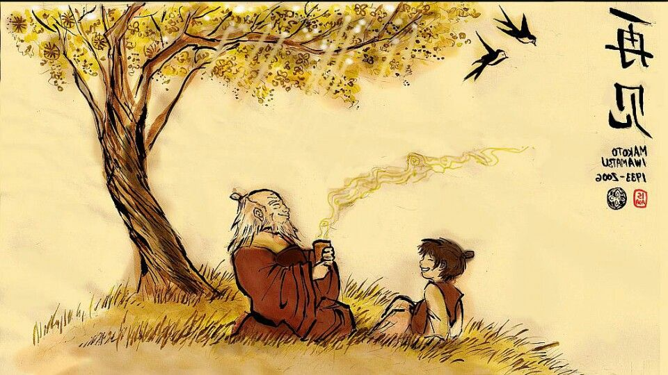 Iroh Wallpaper Lion Face Paint Avatar The Last Airbender Art The Last Airbender
