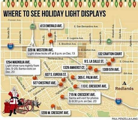 Christmas Lights Tour - A weekend activity and event directory listing in Redlands CA