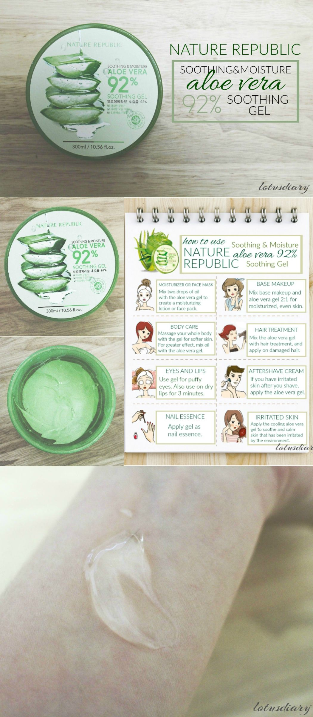 Nature republic soothing and moisture aloe vera 92 soothing gel 300ml - Aloe Review Nature Republic Soothing Moisture Aloe Vera 92 Soothing Gel