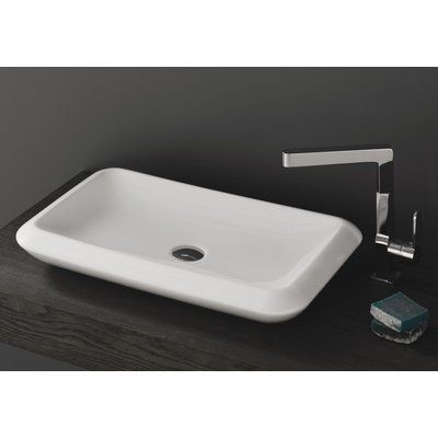 CeraStyle by Nameeks More Ceramic Rectangular Vessel Bathroom Sink