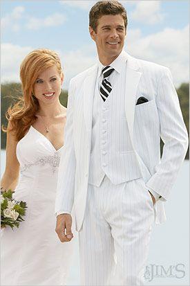 White Tuxedo Wedding
