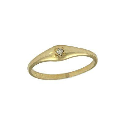 10K Yellow Gold Polished Open Heart Ring for Adults and Kids