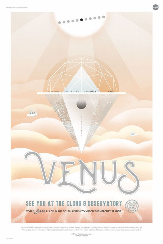 ALL NEW 2016 NASA/JPL Space travel posters just released!  The complete Visions of the Future series is available.  *****VENUS  The rare science