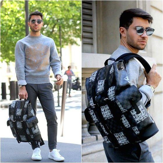 Filippo Fiora - Louis Vuitton Backpack, Dior Homme Sunglasses, Louis Vuitton Sweatshirt, Church's Sneakers - BACKPACK+SWEATSHIRT