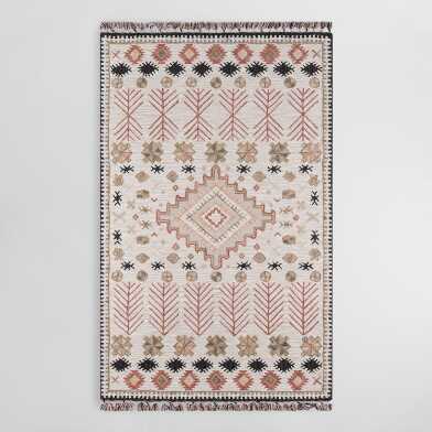 Sea Green and Rust Persian Style Syros Floor Runner | World Market