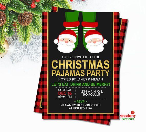christmas pajamas party invitation pancakes and pajamas invitations