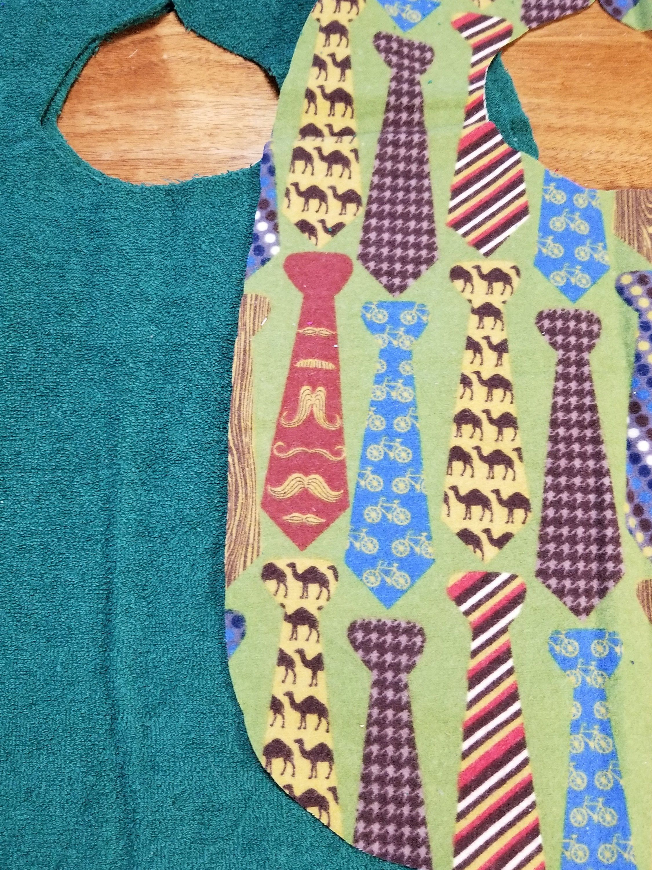f0f735520976f Ties Adult Bib Neckties Teen Bib Choice of Fastener and Choice of No lining  Batting or