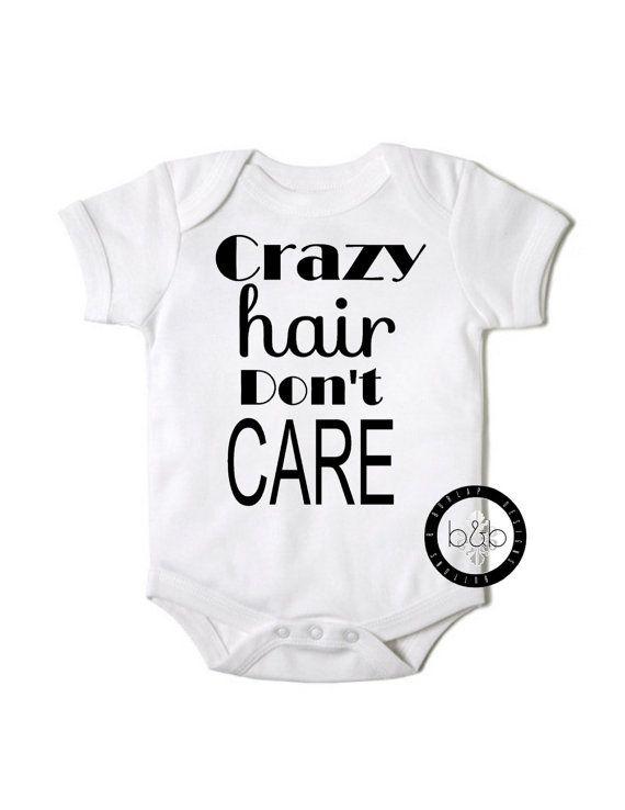 Crazy Hair Onesie on Etsy - buy it now - $15.99