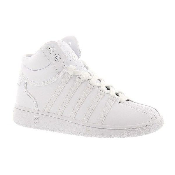 K Swiss Classic VN Mid (£52) ❤ liked on Polyvore featuring shoes,