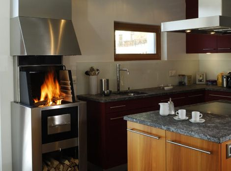 Kitchen Grill Oven - kitchen fireplace cooking, heating system ...