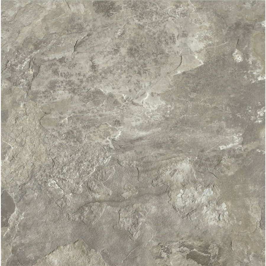 Sticky Tiles For Kitchen Floor Shop Armstrong Crescendo 12 In X 12 In Groutable French Gray Peel