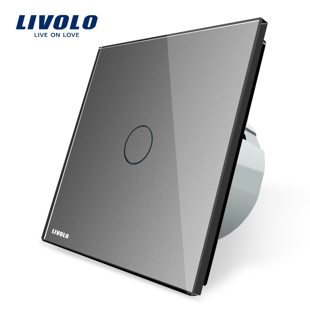 Livolo New Type Touch Switch,Grey Color, 220~250V Touch Screen Wall ...
