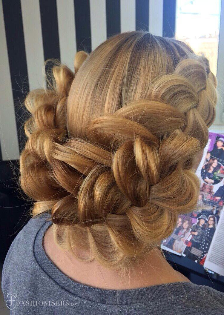 pretty braided hairstyles for summer dutch braided updo braids