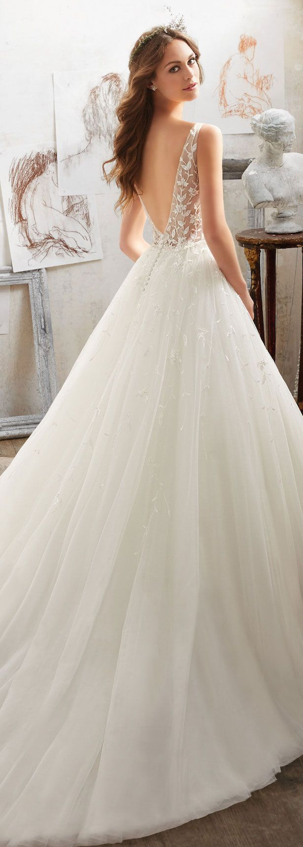 Mori lee madeline gardner wedding dress  Mori Lee by Madeline Gardner Wedding Dress Collection  Blu Spring