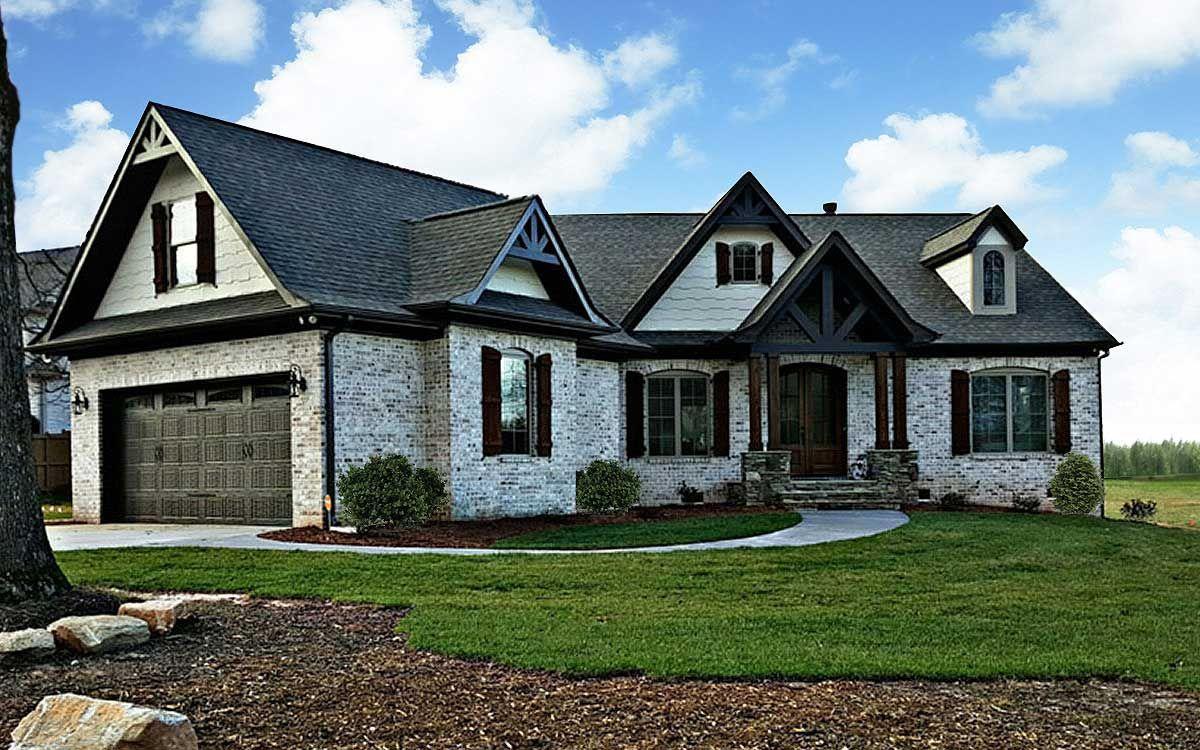 Plan 12262jl expandable rustic ranch bonus rooms for Expandable ranch house plans
