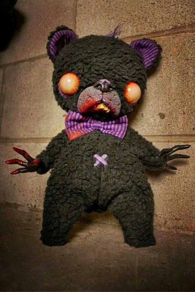 Creepy Scary Teddy Bear Stuffed Animal With Skeleton Head Halloween Weird Bear