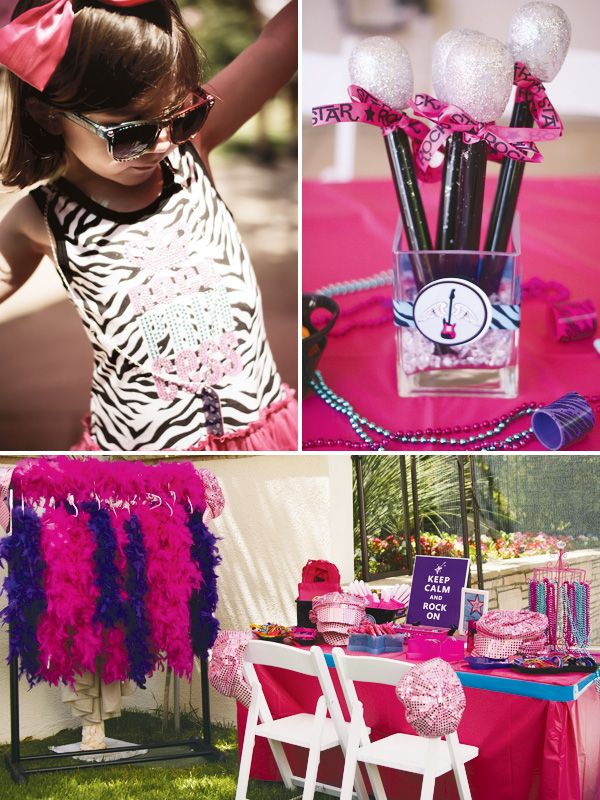 Totally Rad Rockstar Party {Girls Birthday} // Hostess with the ... #rockstarparty