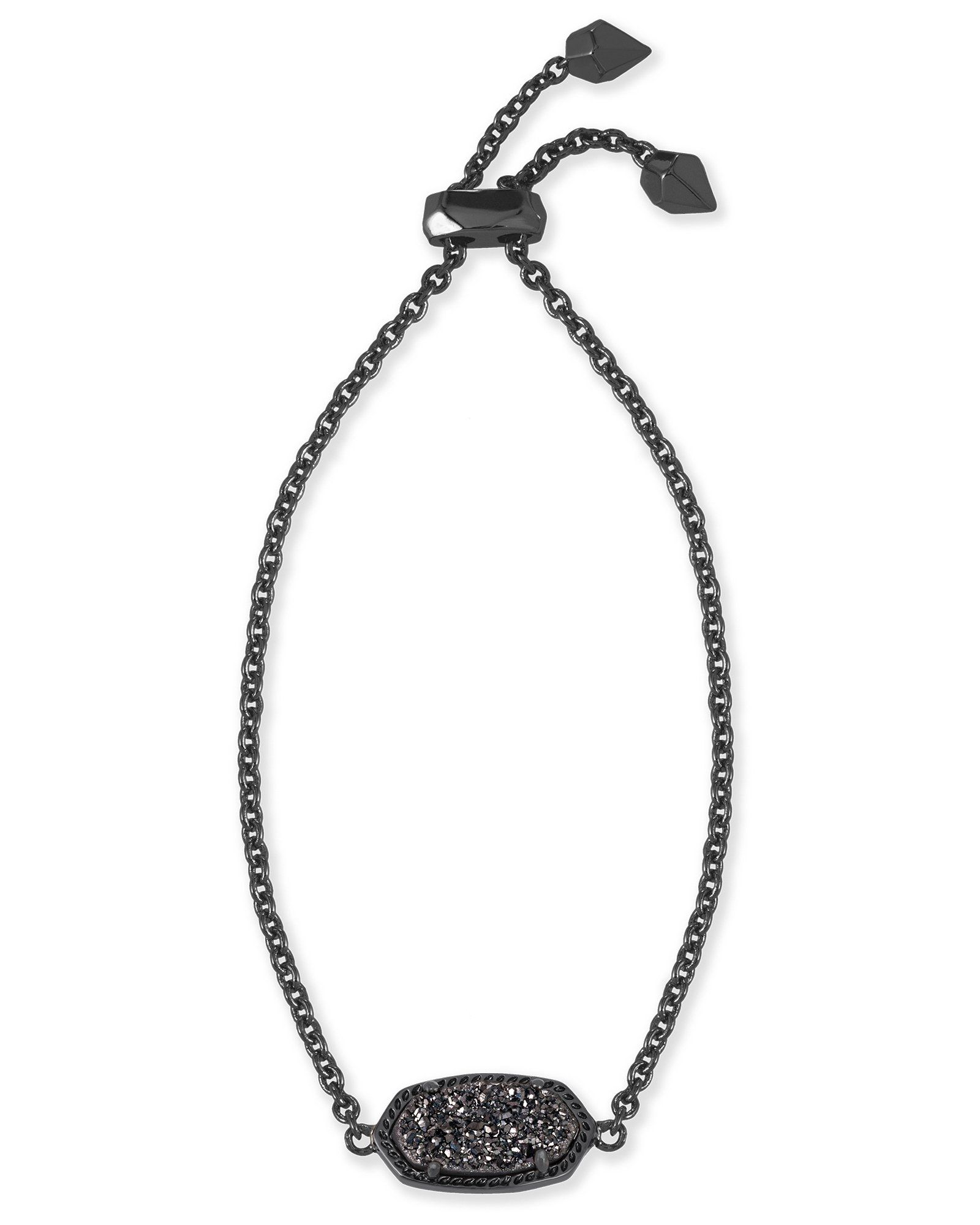 Kendra scott elaina black drusy black adjustable bolo bracelet