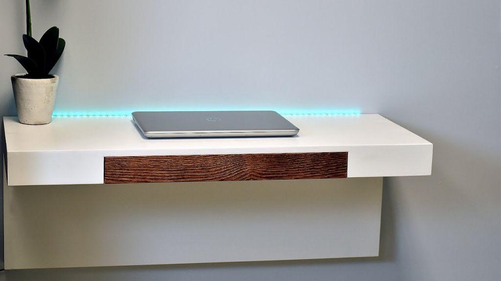 Wand Montiert Schreibtisch Regal Büro Möbel Für Zu Hause Erstellt Aus Einer  Mischung Aus Walnuss,