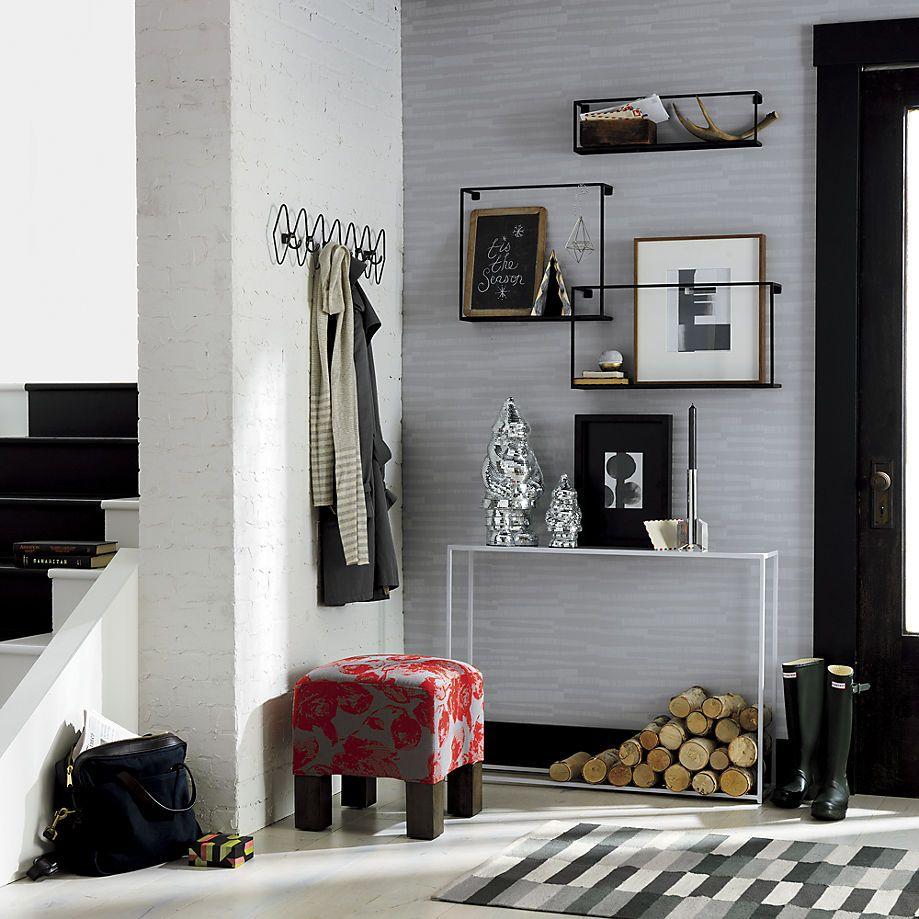 Apartment Therapy Kitchen Shelves: Mini White Console Table