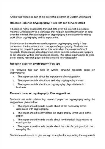 Term Research Paper  Term Paper    Term Paper