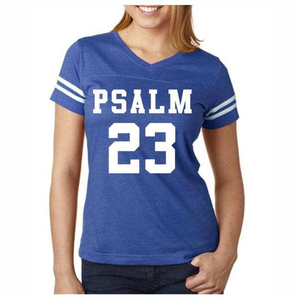 PSALM 23 Football Jersey Christian T-Shirt | Christian tshirts ...