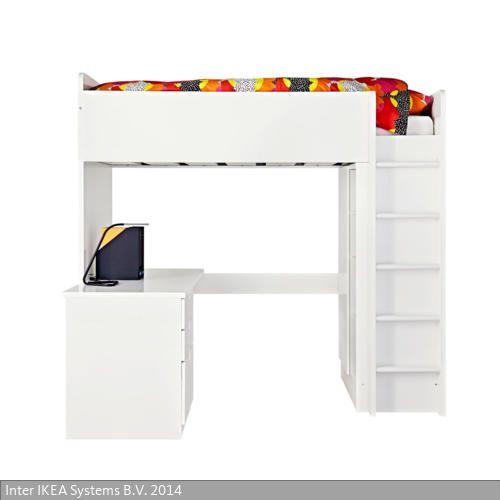 Awesome Das Kinderhochbett Stuva kombiniert Schreibtisch Regal und Kleiderschrank Der Schreibtisch kann parallel