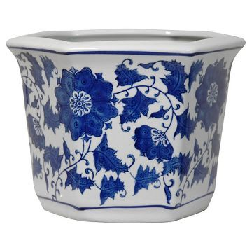 Porcelain Flower Pot Blue White 10 Indoor Plants Pinterest