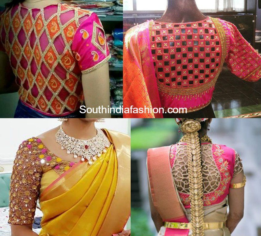 864f58a5c5bcc Cut Work Blouse Designs For Silk Sarees Cut Work Blouse