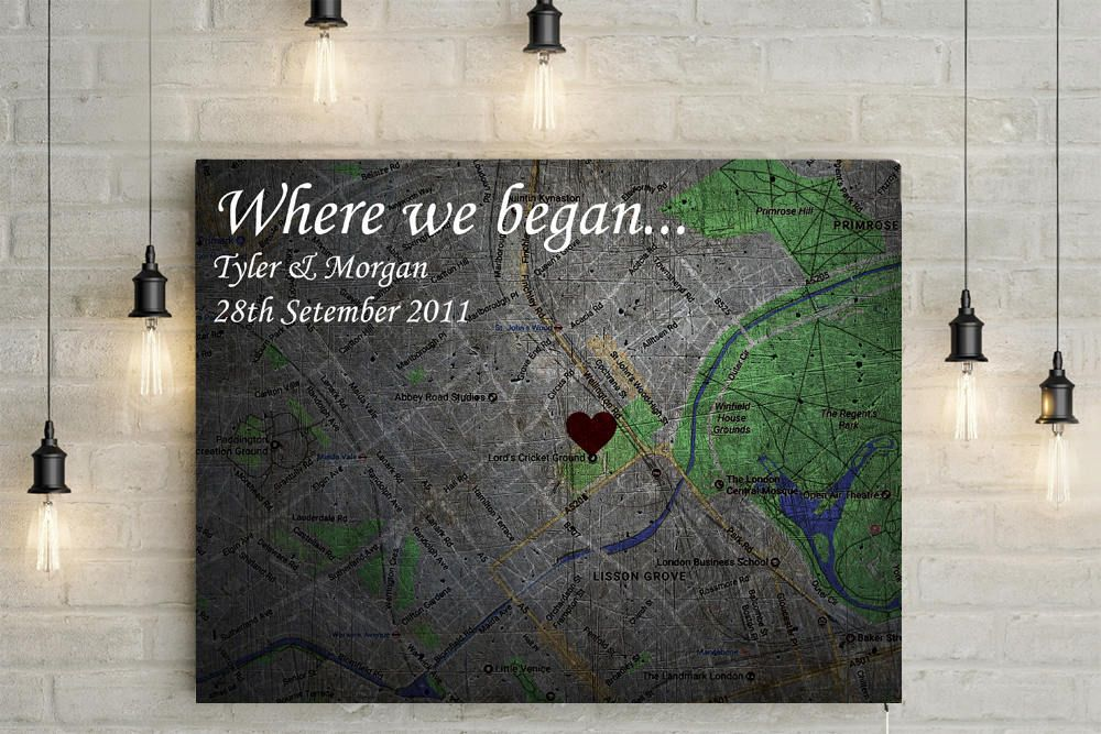 Where we met/ Where we began Personalized Map with