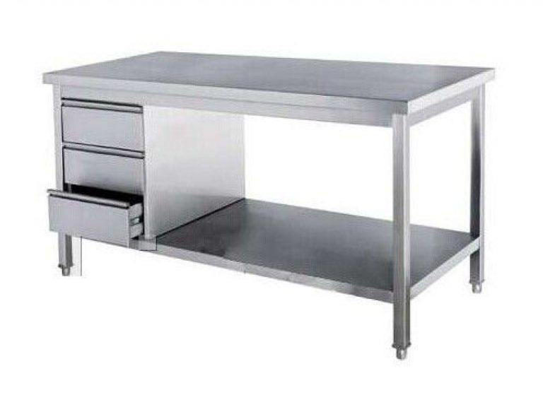Commercial Kitchen Stainless Steel Tables Freestanding Commercial