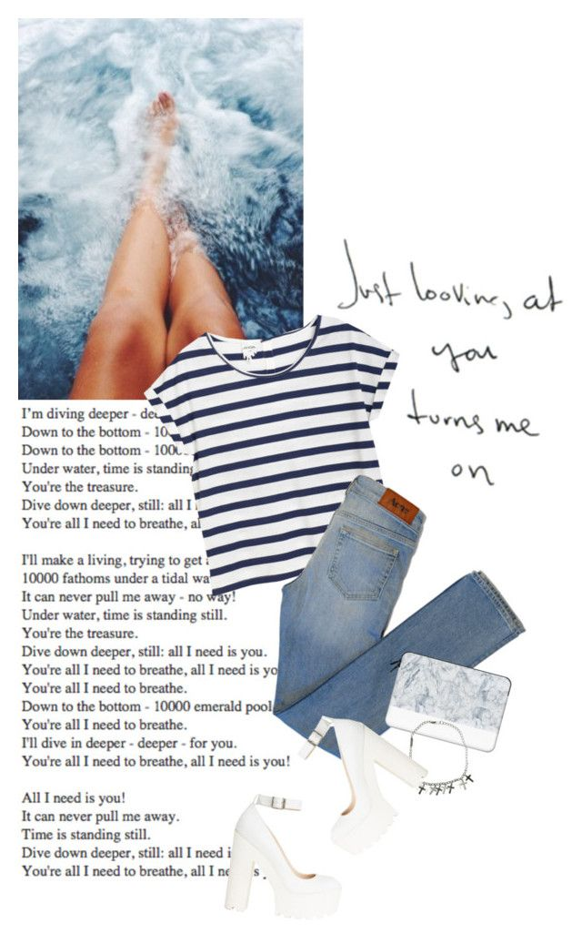 """""""Just looking at you turns me on"""" by rosa-loves-skittles ❤ liked on Polyvore featuring Monki, Acne Studios, Casetify and Dsquared2"""