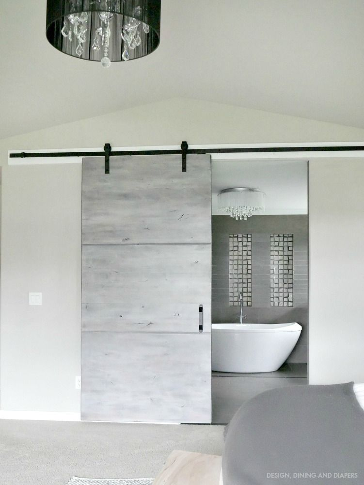 Modern Gray Barn Door Reveal Projects With National