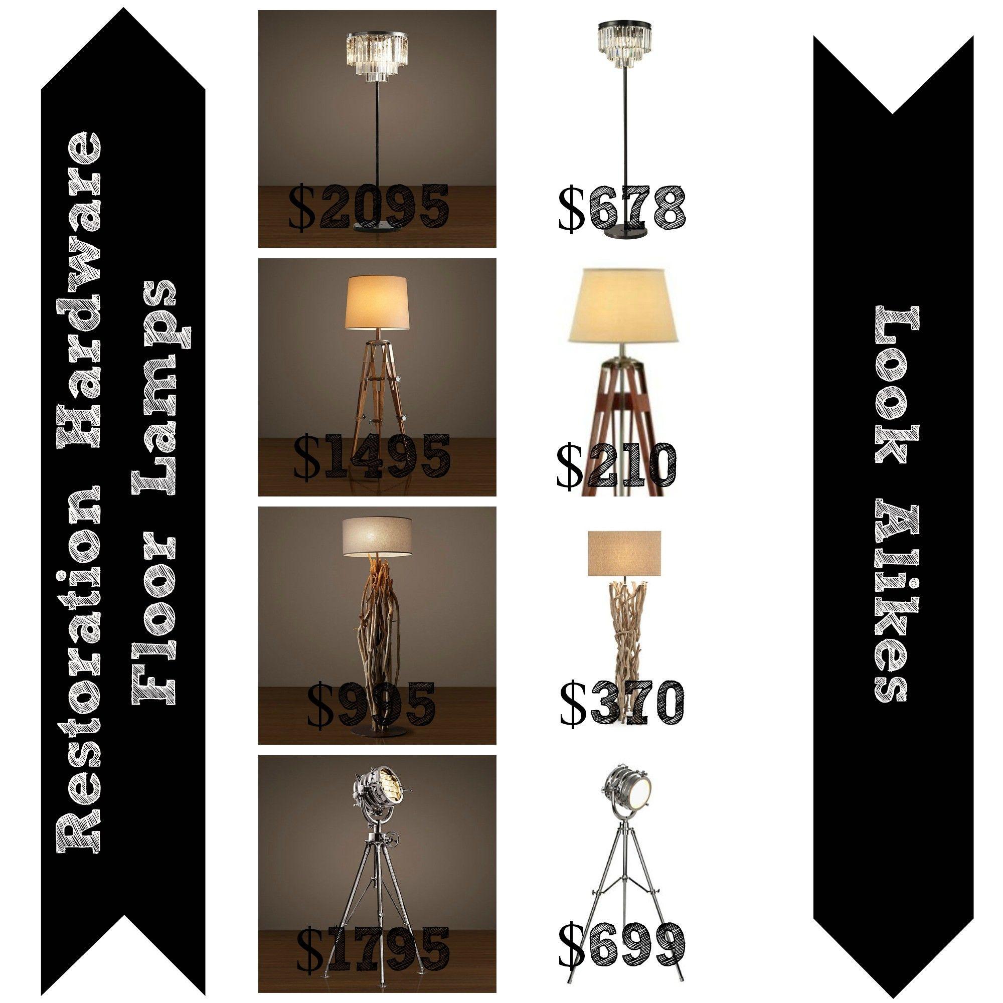 High Quality Decor Look Alikes | 4 Restoration Hardware Floor Lamps Look Alikes, Where  To Buy Copycat