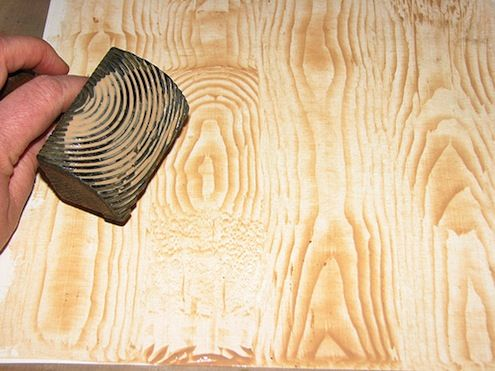 Tip Of The Day To Create Faux Wood Grain After Lying Two Coats