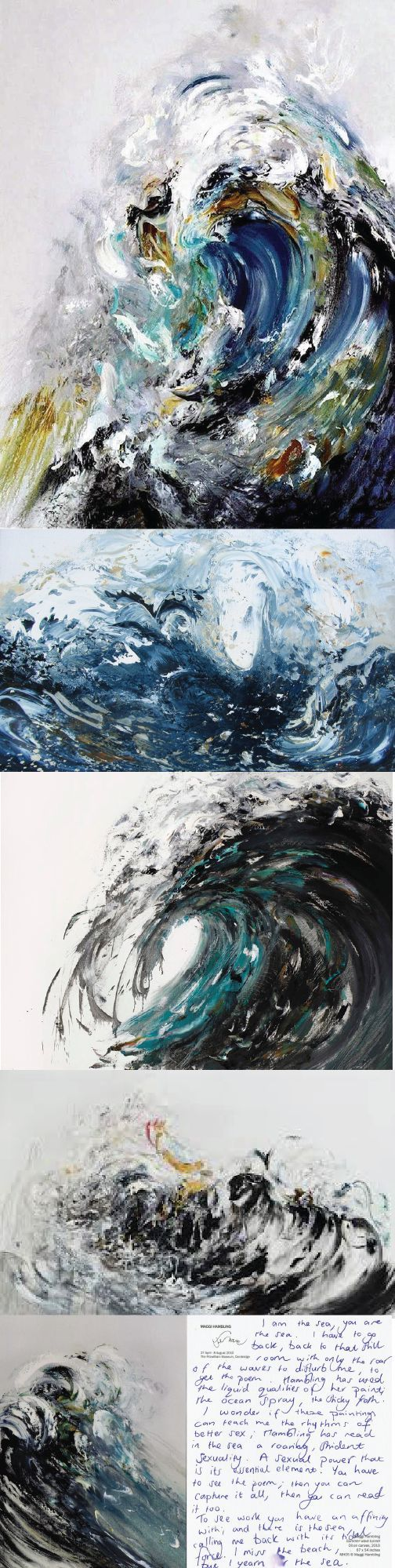 """""""I try to paint the sound of the sea"""", Maggi Hambling. The World's 12 Most Important Female Painters on TheCultureTrip.com. (Image via curiouspeeps.net):"""