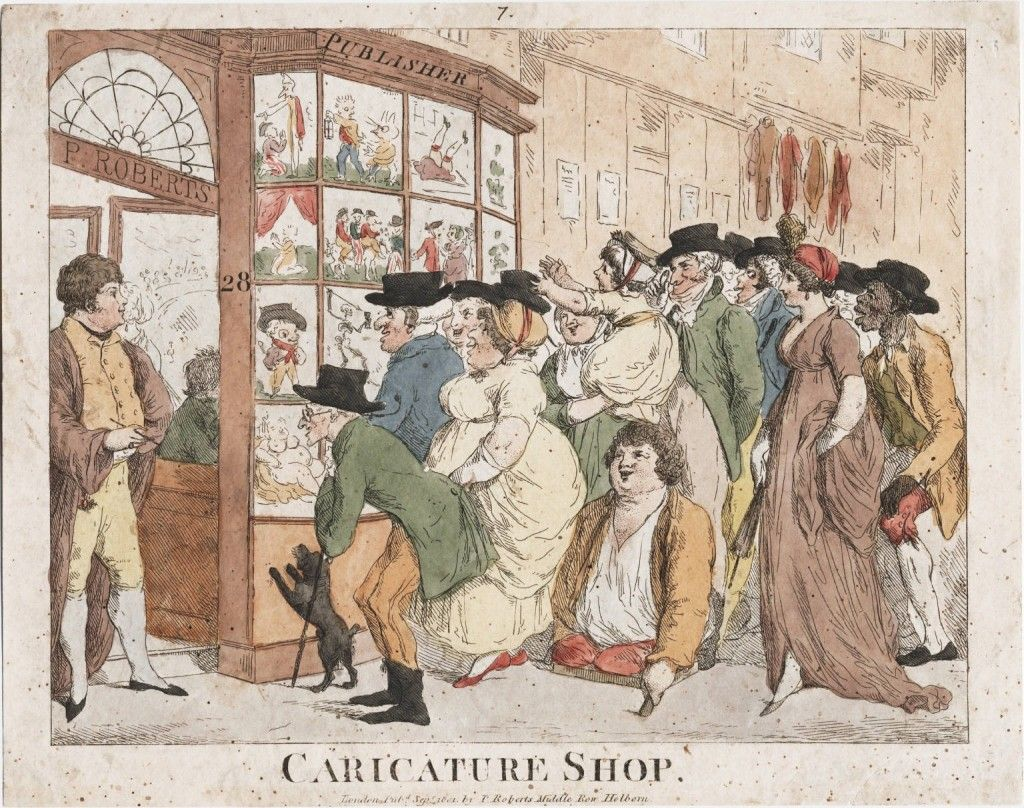 Entitled The Caricature Shop It Takes Place Outside The