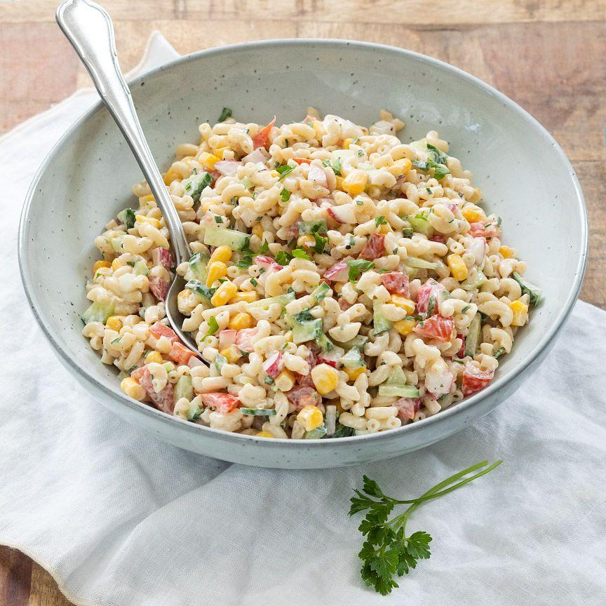 Super Macaroni salade | Recept (met afbeeldingen) | Pastasalade WU-49