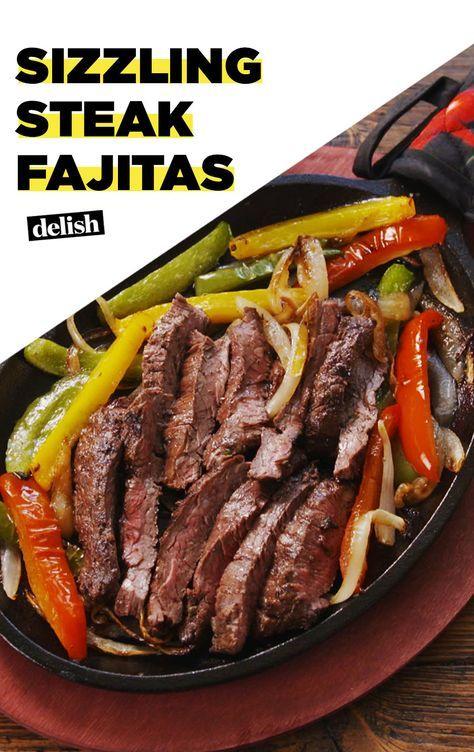 Sizzling Steak Fajitas #beeffajitarecipe