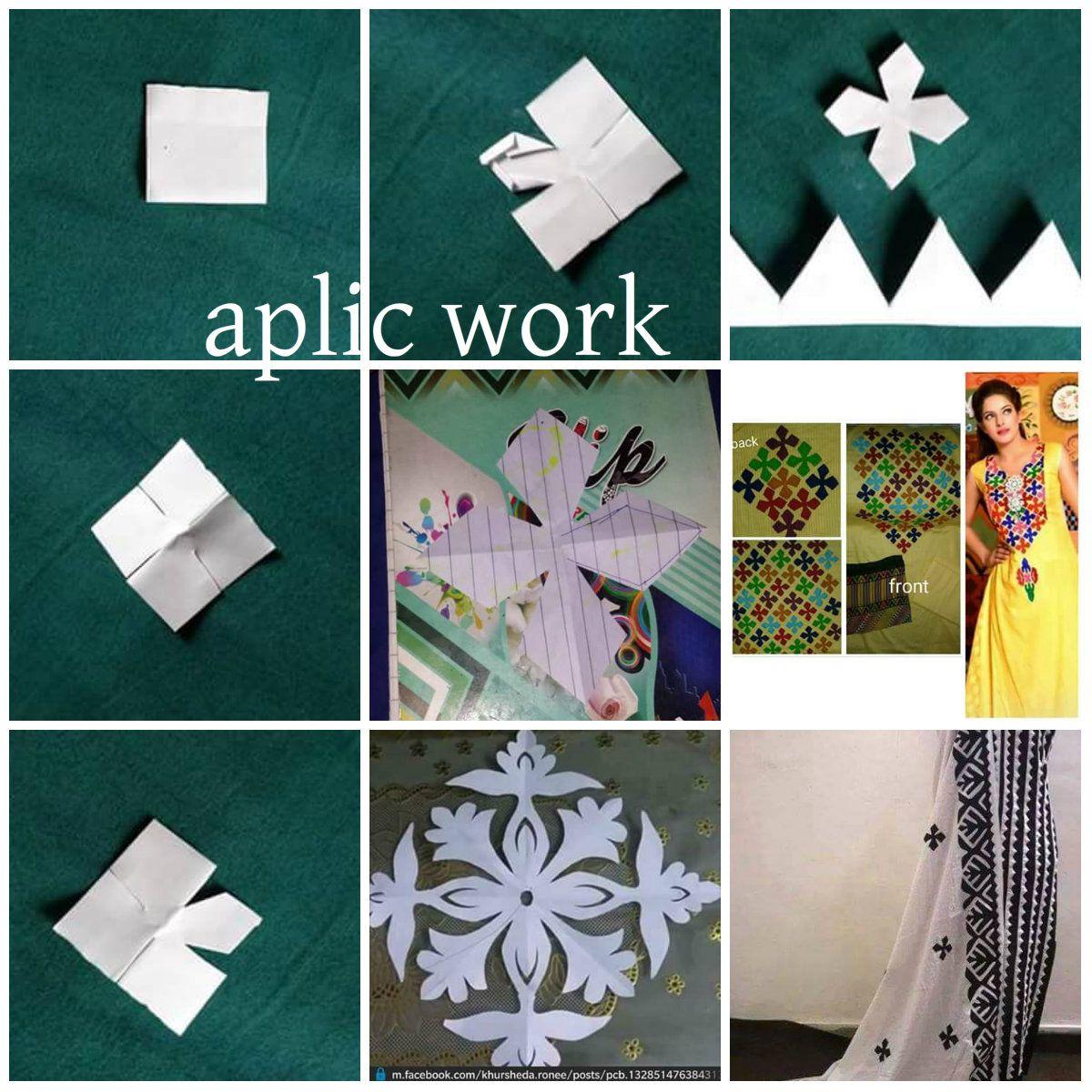 Aplic Work Applique Fabric Applique Designs Embroidery