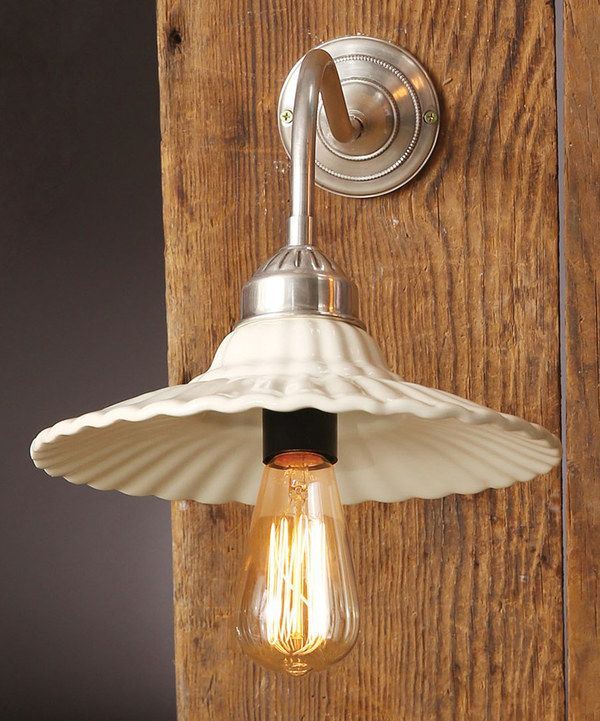 Look At This White Metal Wall Lamp With Ceramic Shade On Zulily Today