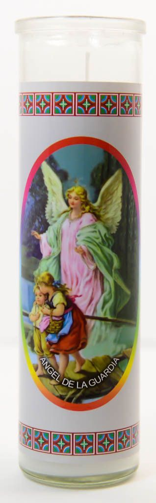 Guardian Angel Glass Candle