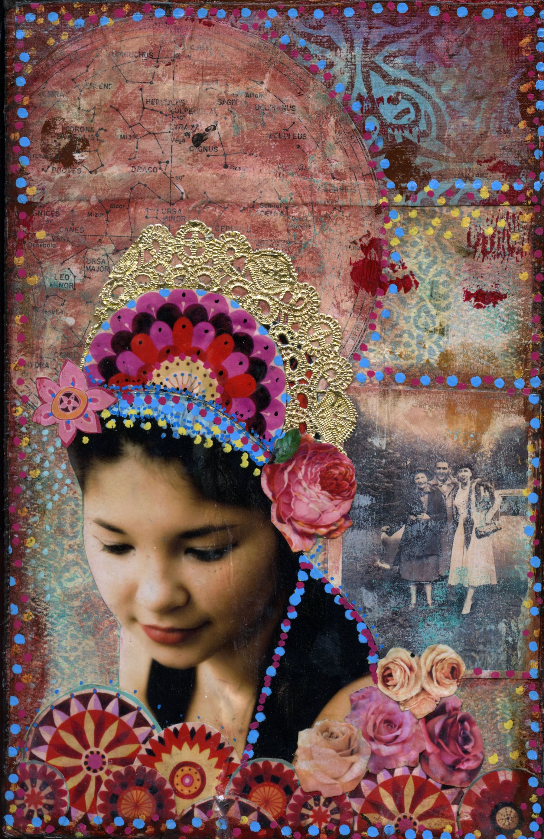 honoring ancestors mixed media from Gypsy Love Cafe