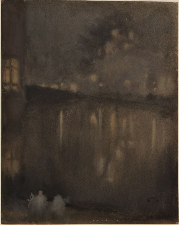 """Nocturne - Grey and Gold, Canal in Holland"" by James Whistler, 1883"
